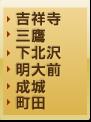 吉祥寺・三鷹・下北沢・明大前・町田エリア